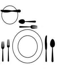Protocolo en la mesa i for Como colocar los cubiertos en la mesa